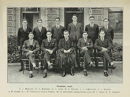 Harold Holt Prefects Class 1926