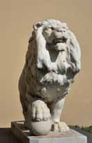 One of the four Wesley lions by Ettore Cadorin