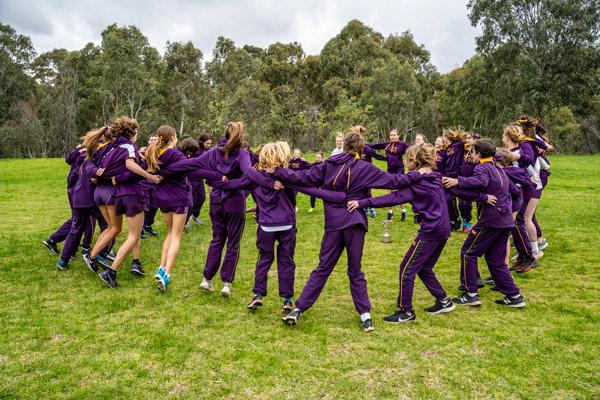 Students celebrating their season of sport