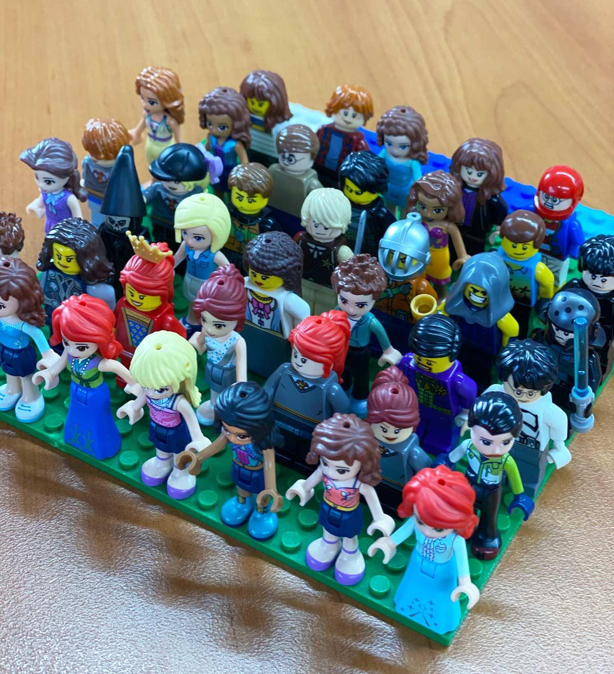 Tallulah O'Hara used Lego to create various historical figures