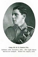 Corporal Hubert Roulstone Clifford Currie