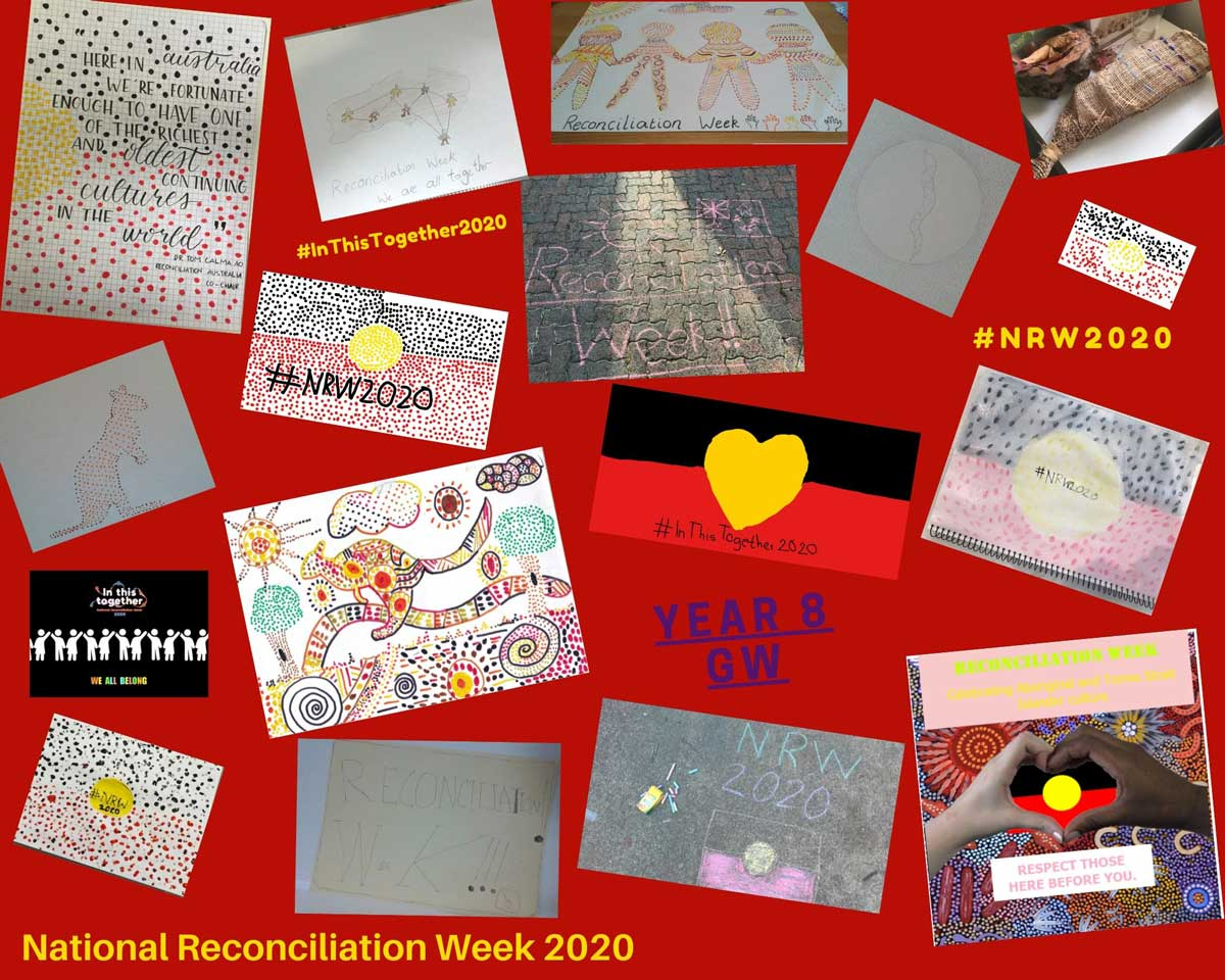 Collage of student responses to Reconciliation