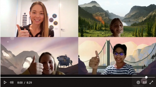A screenshot from a virtual class held during remote learning