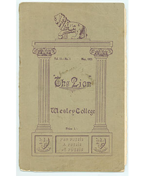 Cover of the first Lion publication