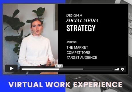 Screengrab from Virtual Work Experience promotional video