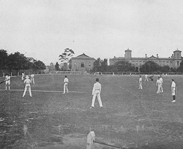 Cricket at Wesley College 1870
