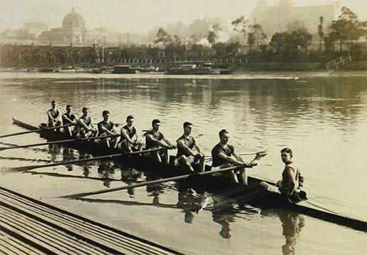 Wesley College rowing team