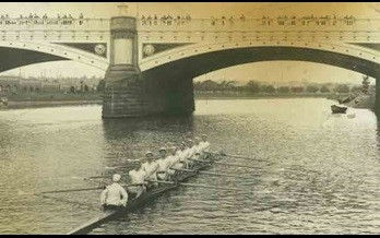The 1901 Wesley Rowing Crew