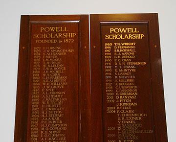 Walter Powell Scholarship Wesley College